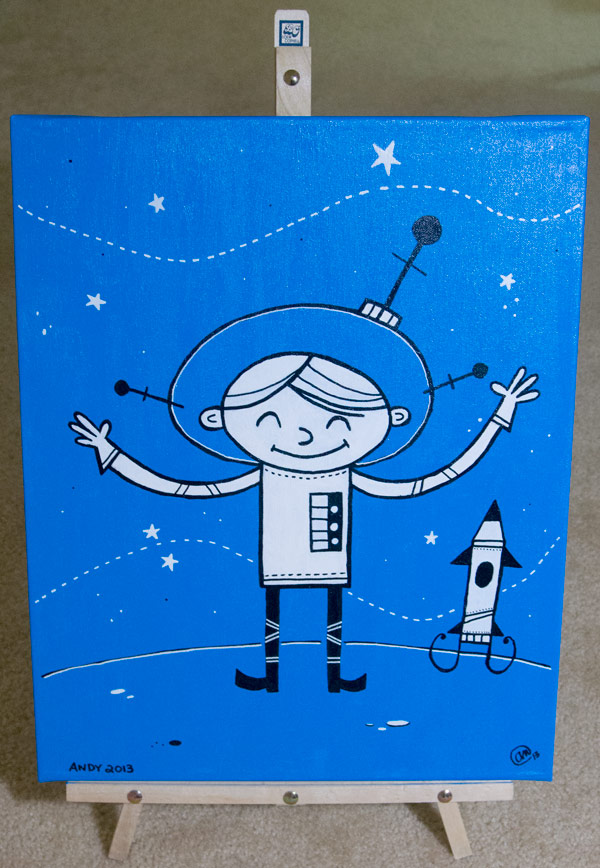 (He is) Lost in Space original art by Andy McNally