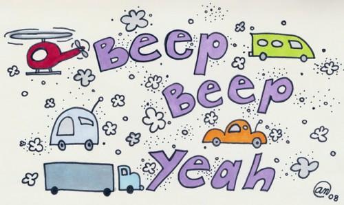 Beep, Beep, Yeah - original art by Andy McNally