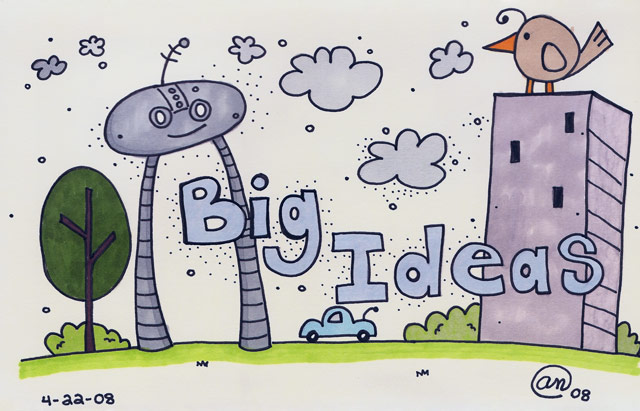 big ideas - original artwork by Andy McNally