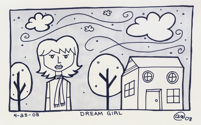 dream girl - original art by Andy McNally