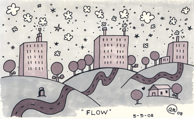 flow - original artwork by Andy McNally