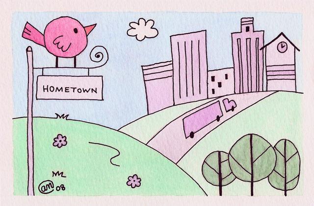 around town three - original artwork by Andy McNally