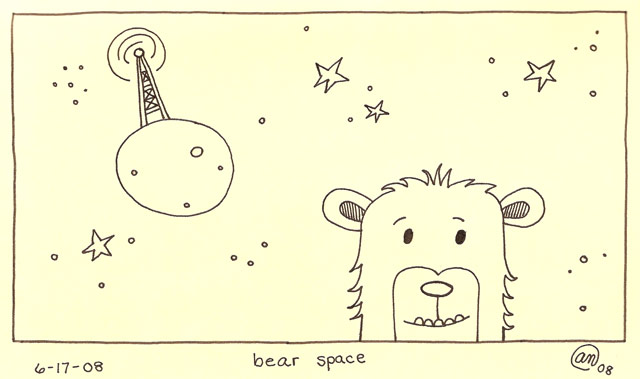 bear space - original art by Andy McNally