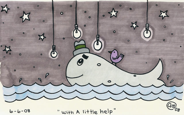 with a little help - original artwork by Andy McNally