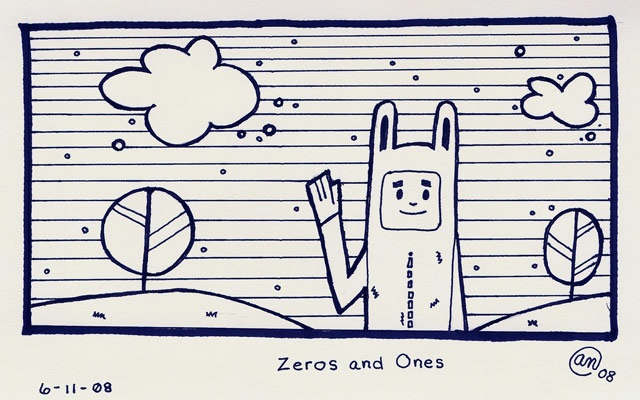 zeros and ones - original art by Andy McNally
