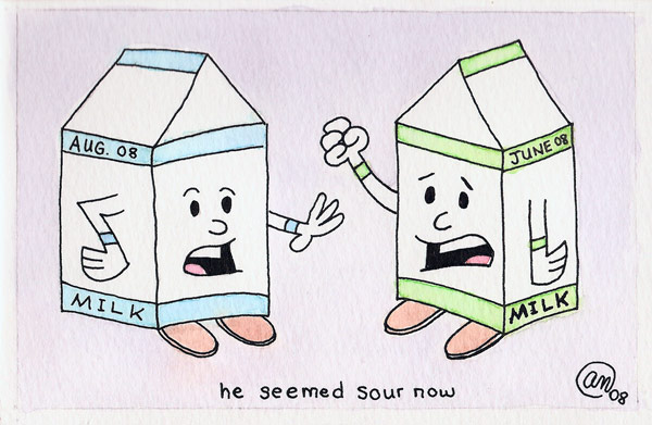 he seemed sour now - original art by Andy McNally