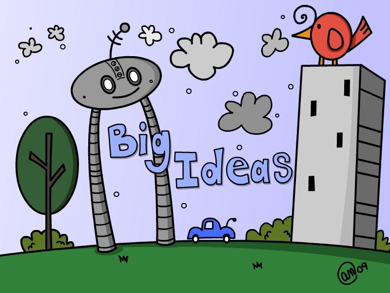 big ideas digital version - original art by andy mcnally