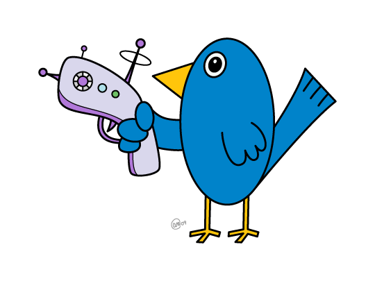 Bird with a Raygun