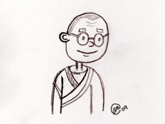 dalai lama sketch