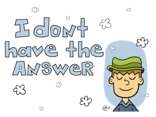 dont have the answer - illustration by andy mcnally