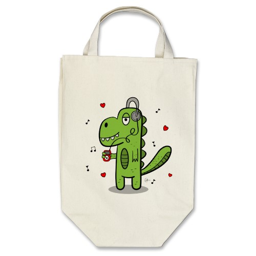 rockosaur grocery tote