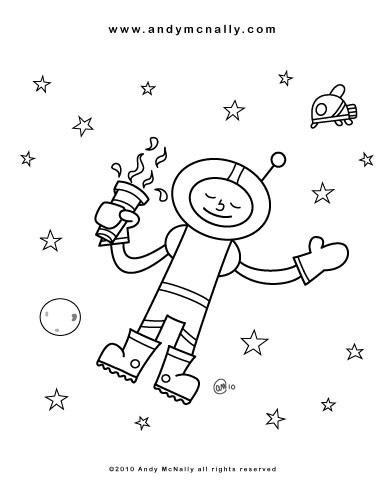 star gazer coloring sheet