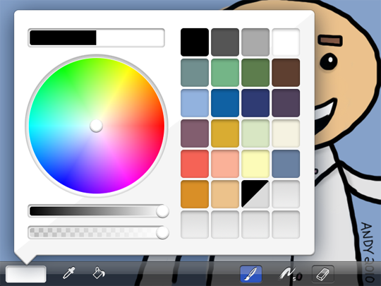 brushes color menu