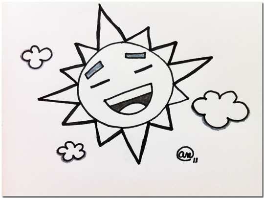Happy Sun - original art by Andy McNally