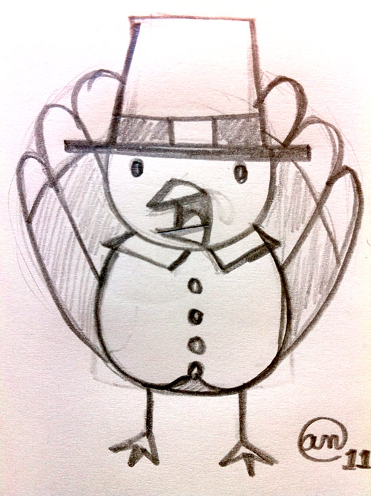 Little Turkey original sketch by Andy McNally