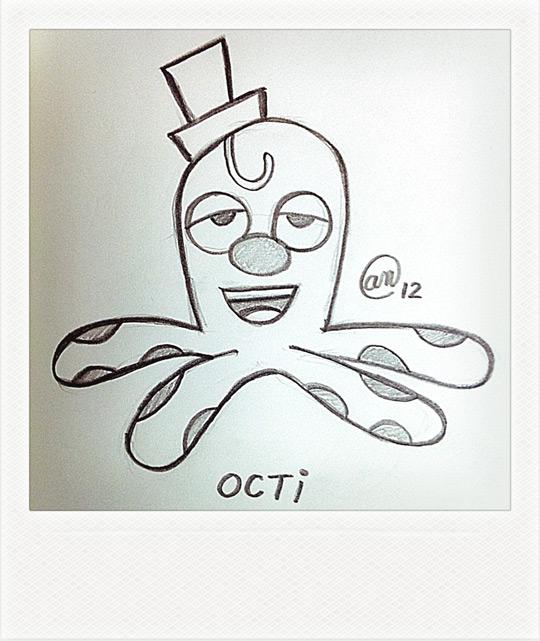 Octi - original art by Andy McNally