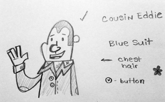 Cousin Eddie leisure suit sketch