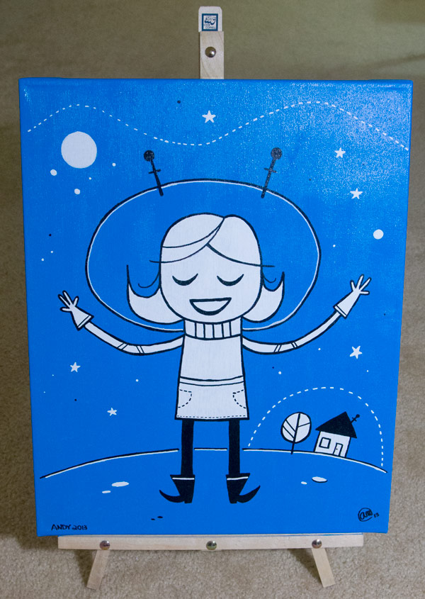 (She is) Lost in Space original art by Andy McNally