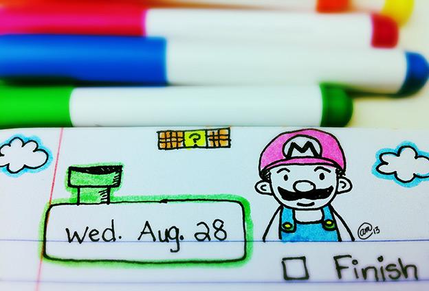 Mario sketch Aug. 28, 2013
