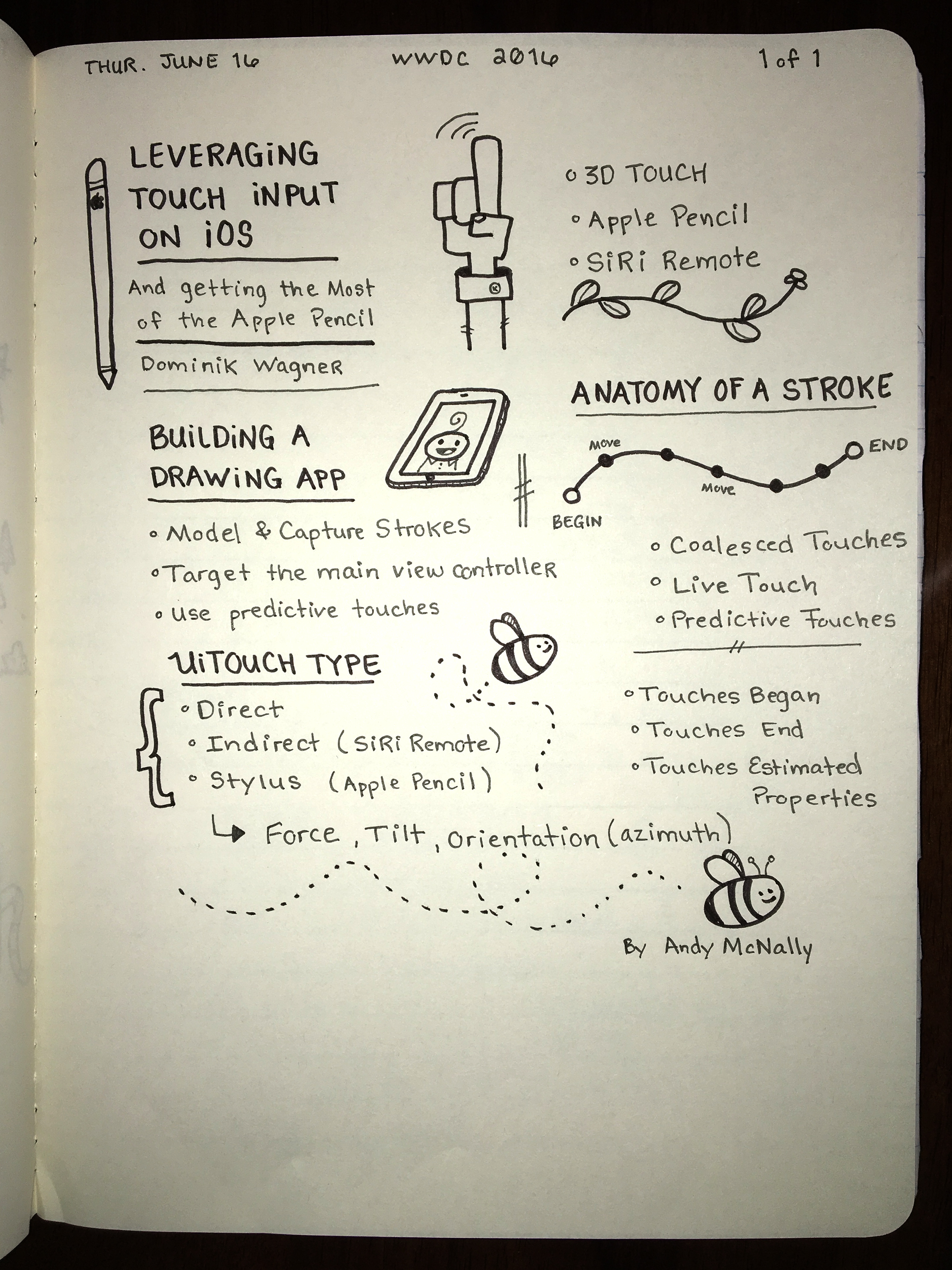 WWDC sketchnotes - Leveraging Touch Input on iOS