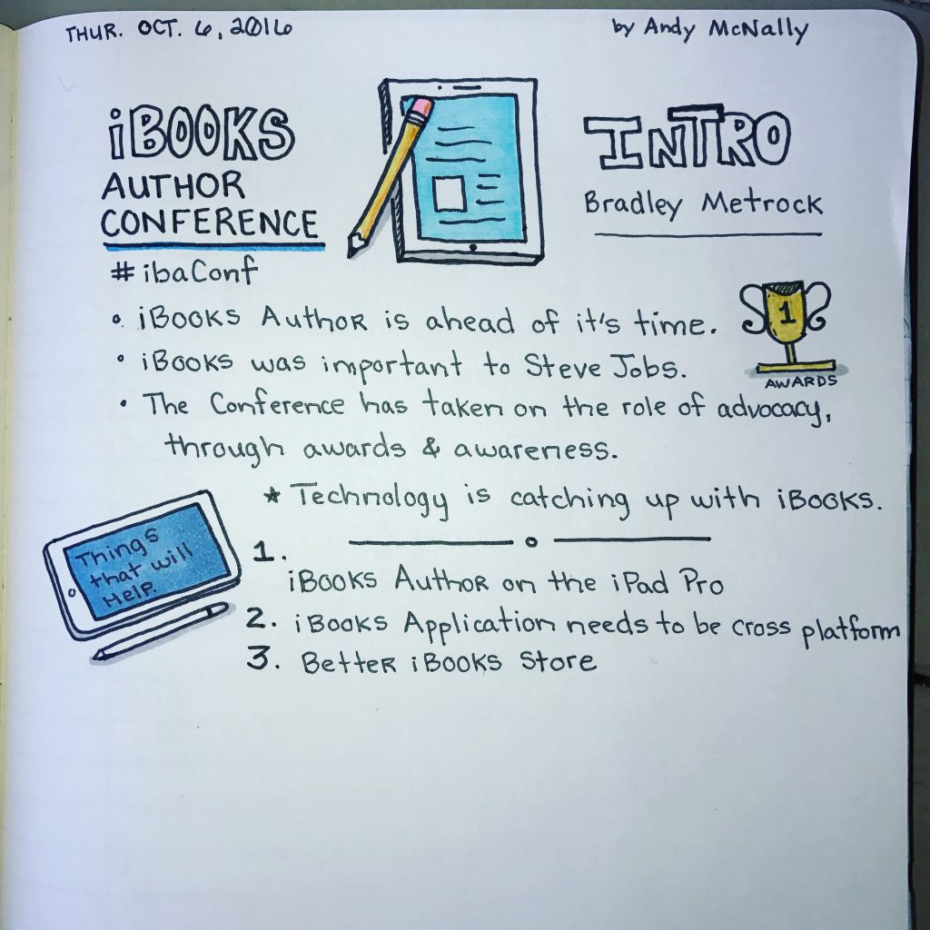 iBooks Author Conference Introduction sketchnotes