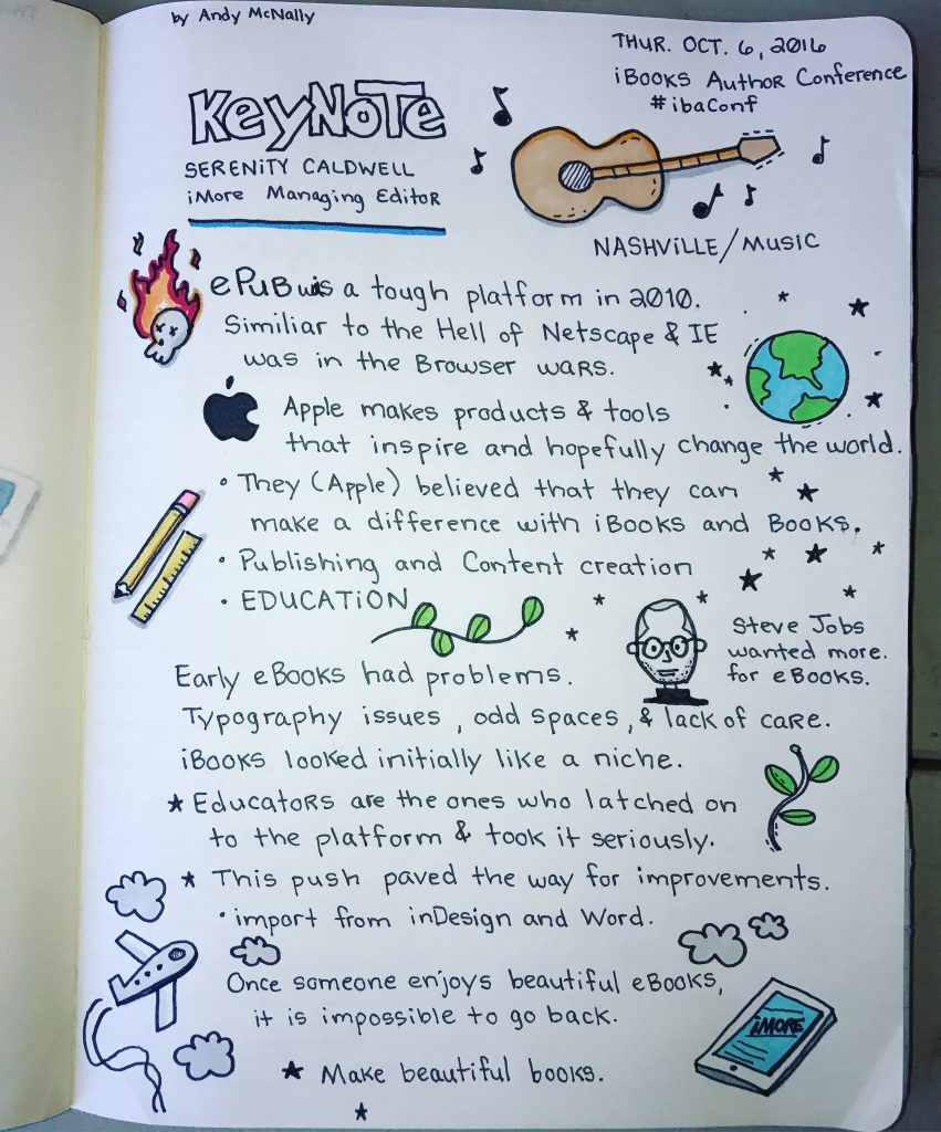 iBooks Author Conference Keynote sketchnotes