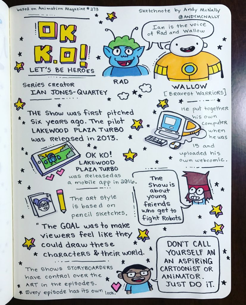OK K.O.! Let's Be Heroes sketchnote