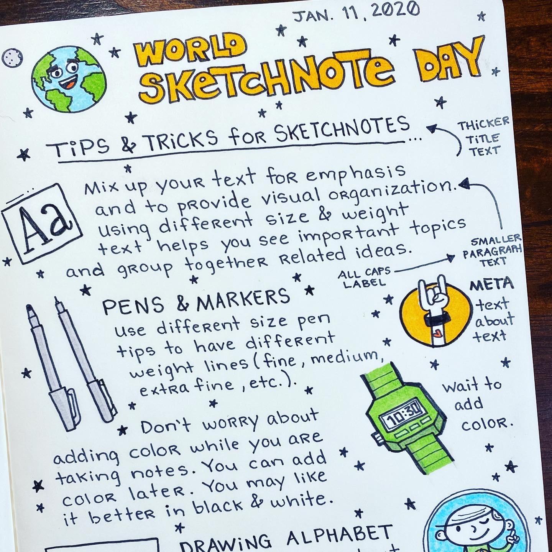 World Sketchnote Day 2020 - 1