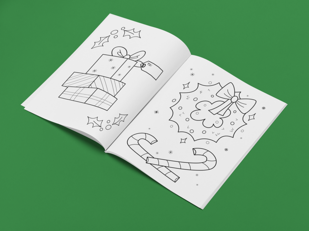 Christmas Coloring Book sample pages
